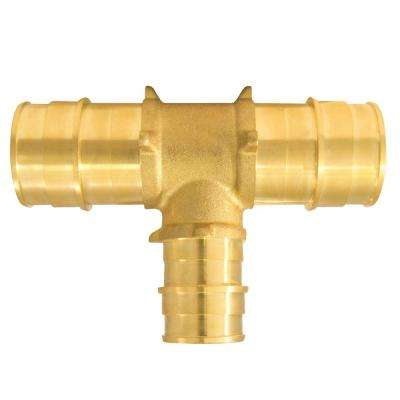 1 in. x 1 in. x 3/4 in. Brass PEX-A Expansion Barb Reducing Tee