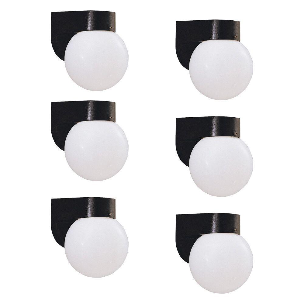 Cordelia Lighting 1-Light Solid Black Fluorescent Outdoor...