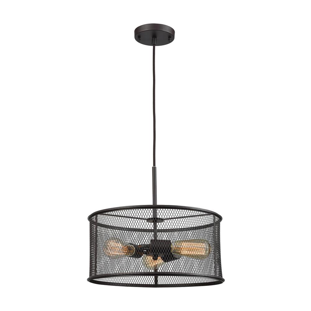 Williamsport 3-Light Oil Rubbed Bronze Chandelier With Metal Drum Shade  sc 1 st  The Home Depot & CANARM Monica 3-Light Oil Rubbed Bronze Chandelier-ICH320A03ORB20 ... azcodes.com