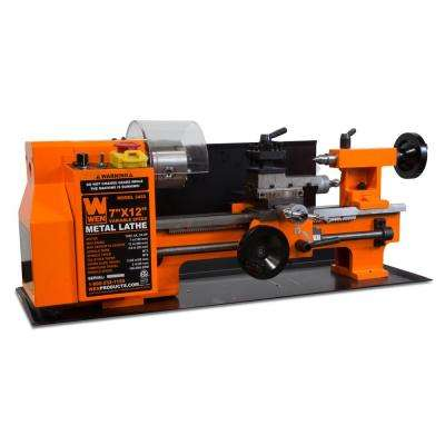 Variable Speed 7 in. x 12 in. 2-Direction Benchtop Metal Lathe
