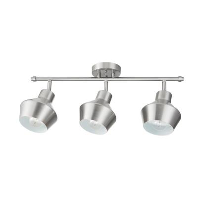 Asher 24.6 in. 3-Light Brushed Nickel Track Lighting Kit