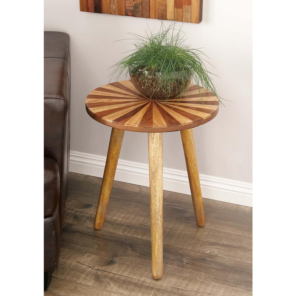 Litton Lane Wooden Color Wheel Inspired Round Accent Table 66185