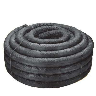 4 in. x 100 ft. Corex Drain Pipe Perforated with Sock