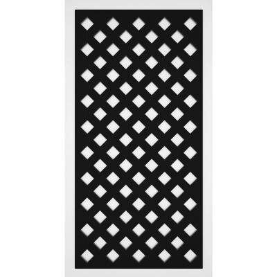 Privacy Diamond 2 ft. x 4 ft. Black Vinyl Decorative Screen Panel (2-Pack )
