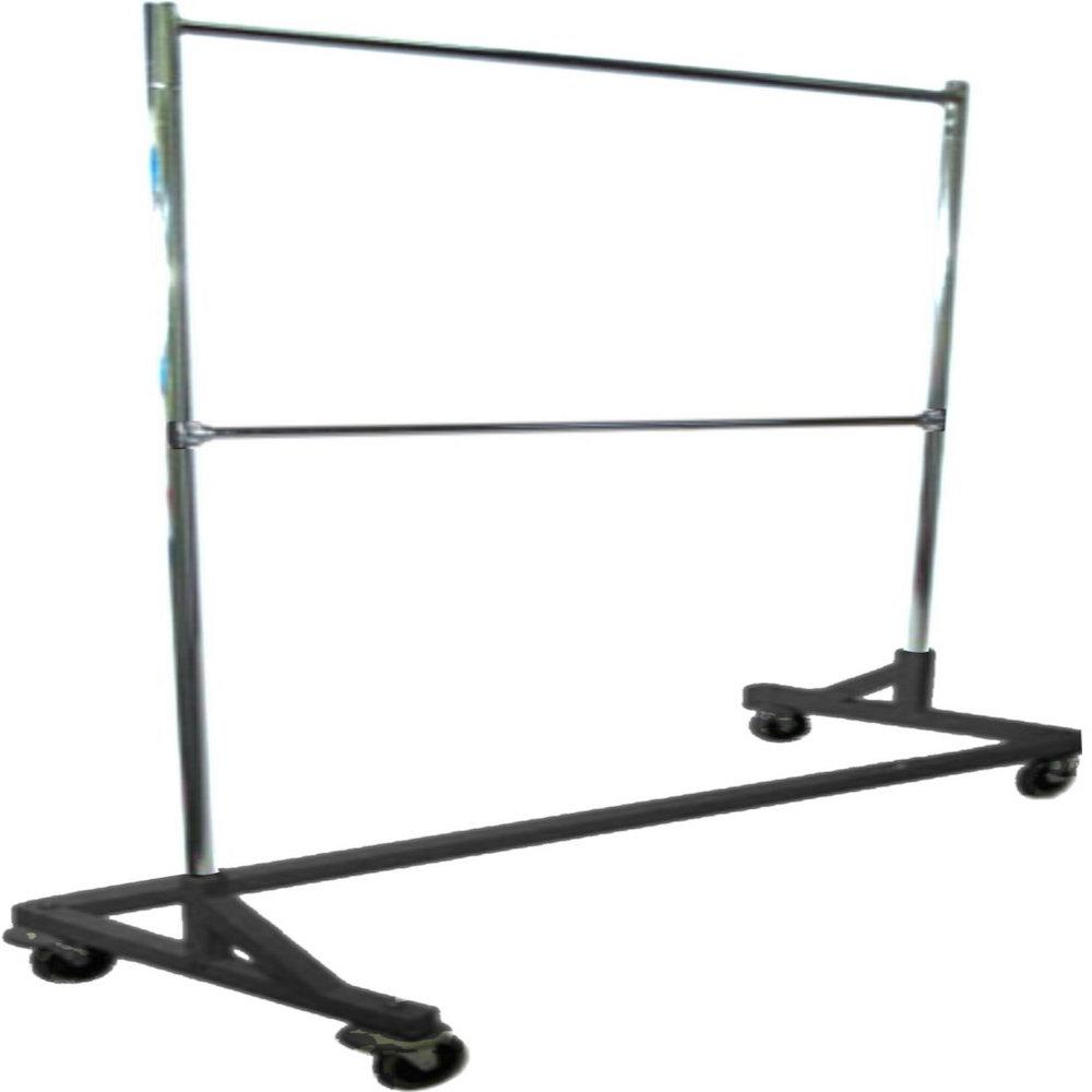 Industrial Strength Black Z Rack with Add-On Hangrail