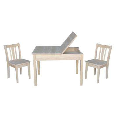 Jorden Lift-top Storage 3-Piece Ready to Finish Child's Table Set