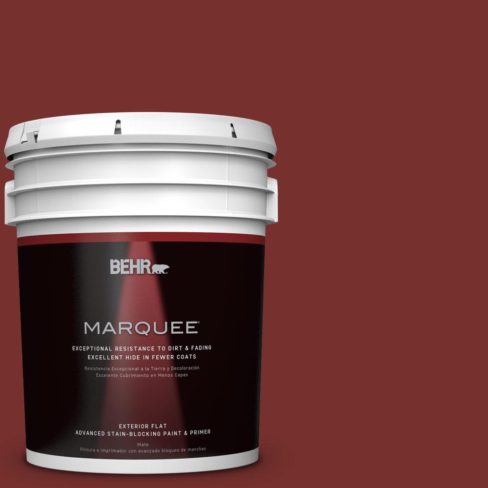 BEHR MARQUEE 5-gal. #ECC-15-3 Cherry Bark Flat Exterior Paint