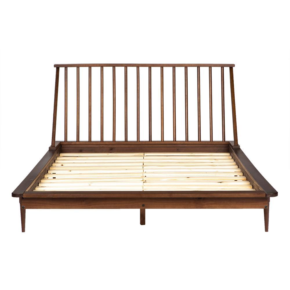 225 & Walker Edison Furniture Company Solid Wood Modern Walnut ...