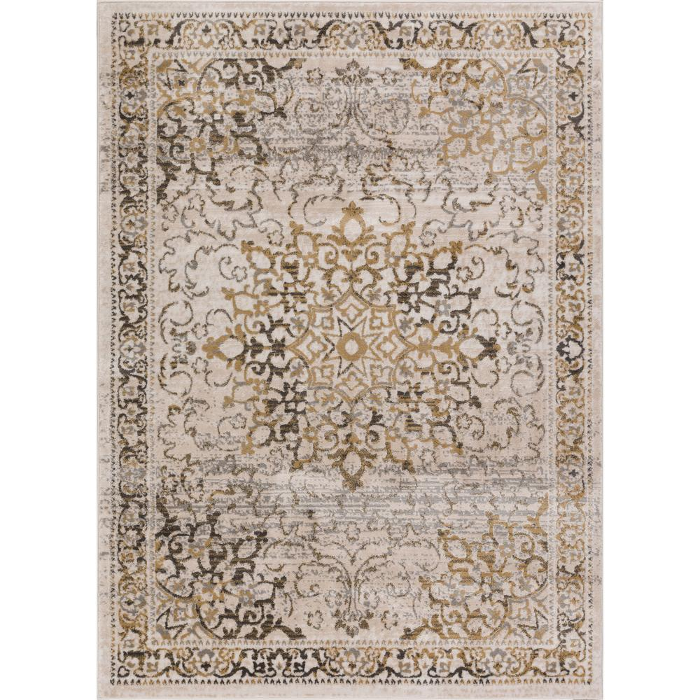 Vintage Home Rug: Well Woven New Age Sultana Gold 3 Ft. 11 In. X 5 Ft. 7 In