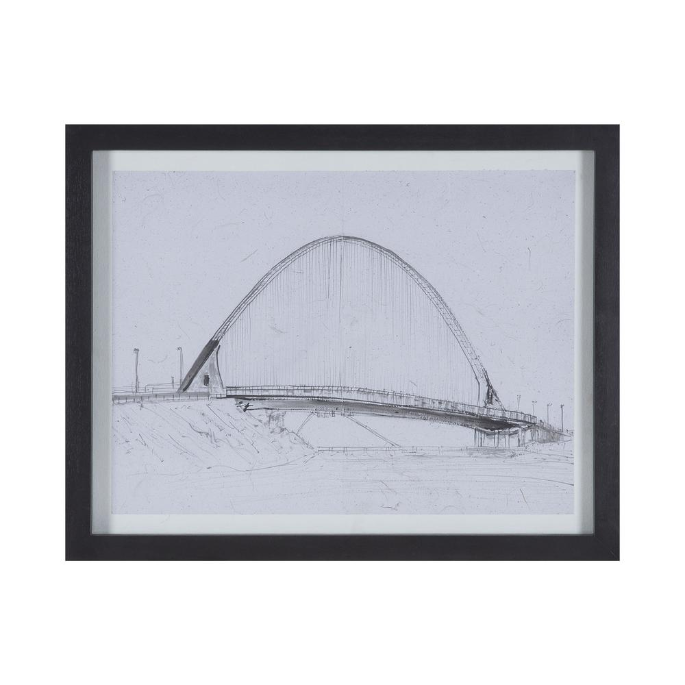 Santiago III Framed Recycled Paper