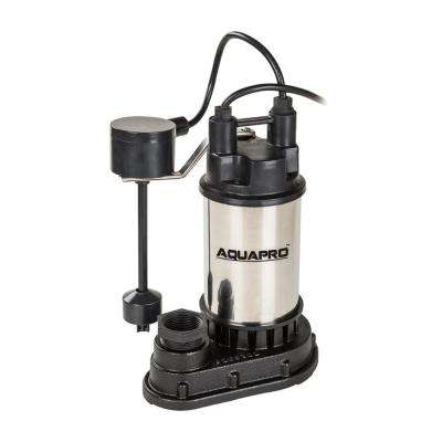 1 HP Submersible Sump Pump with Direct-in Vertical Float Switch