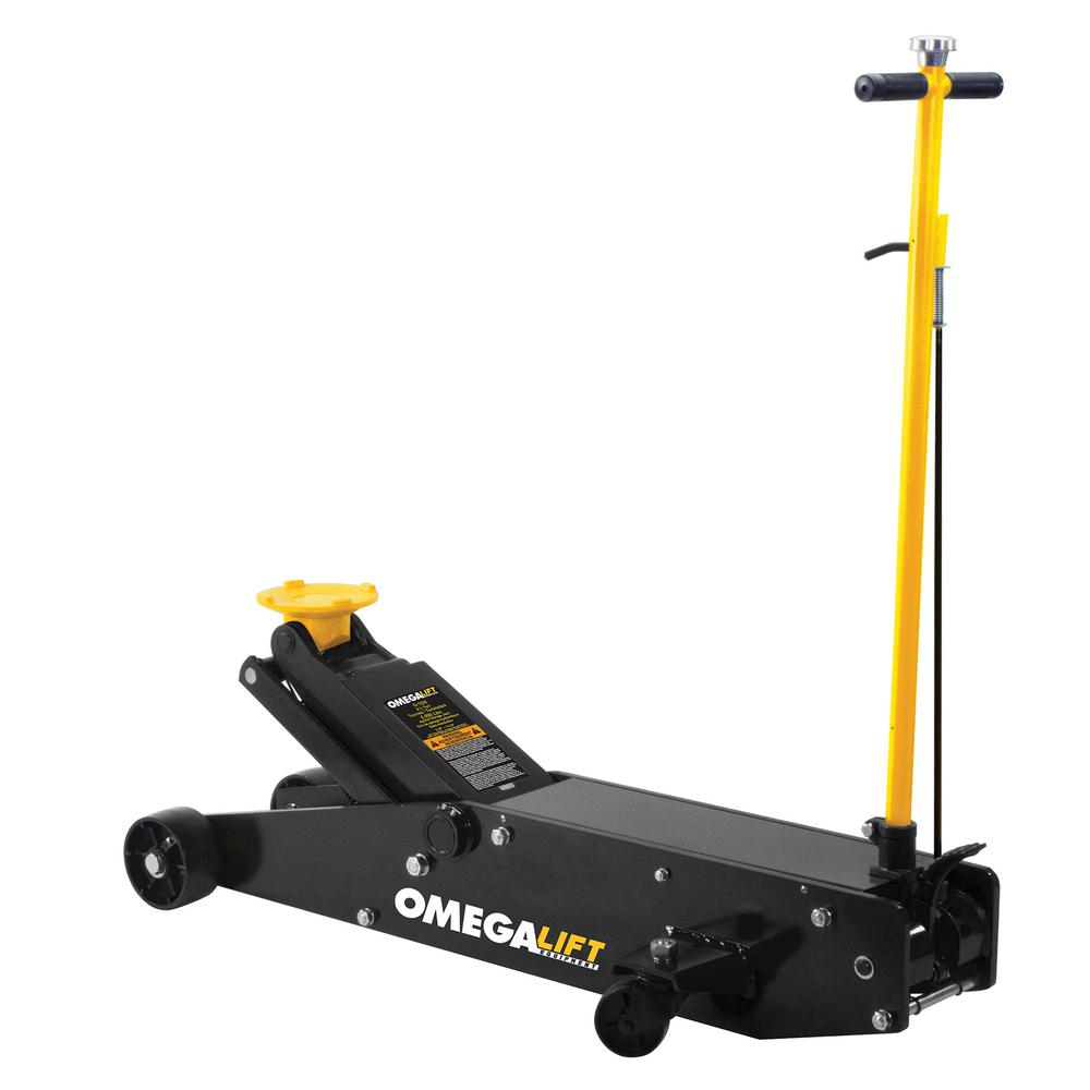 Omega Lift 10 Ton Capacity Heavy Duty Hydraulic Long Chassis Service Jack 22100c The Home Depot