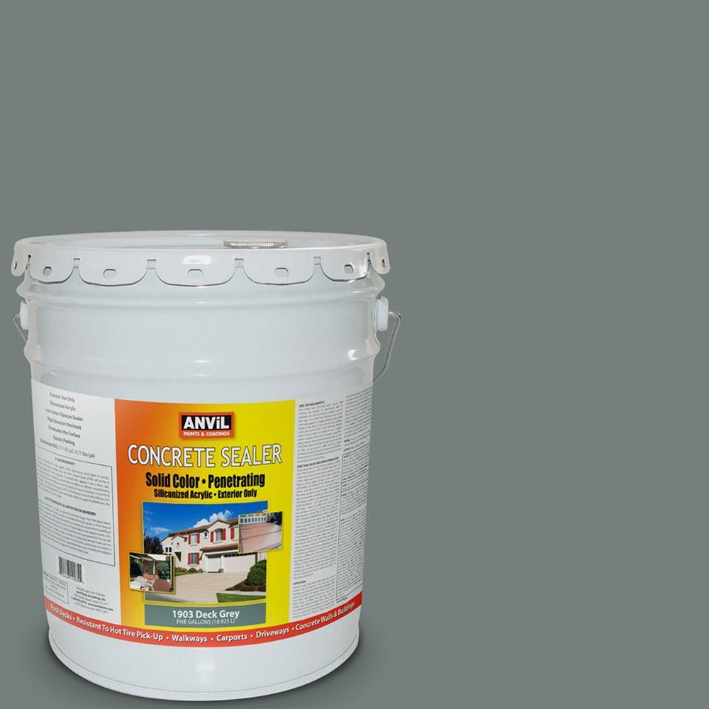 ANViL 5-gal. Deck Grey Siliconized Acrylic Solid Color Exterior Concrete Sealer-DISCONTINUED