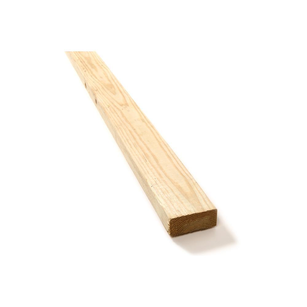 WeatherShield 2 in. x 4 in. x 6 ft. #2 Prime Pine Pressure-Treated Lumber