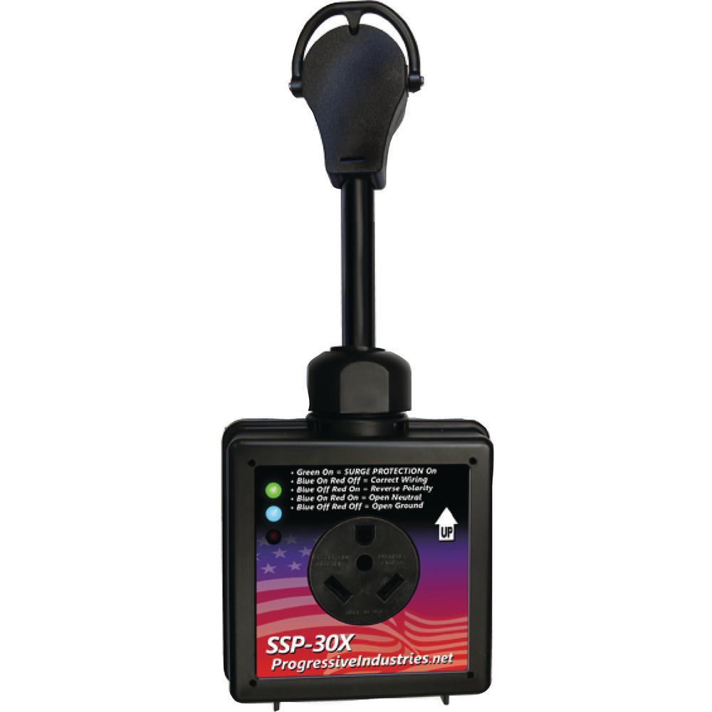 30 Amp Portable RV Smart Surge Protector