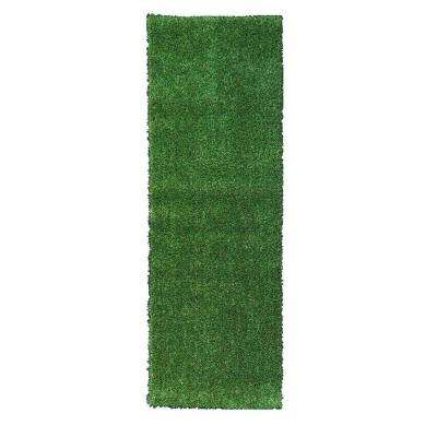 Grassland Collection 3 ft. x 7 ft. 3 in. Indoor/Outdoor Artificial Grass Synthetic Lawn Turf