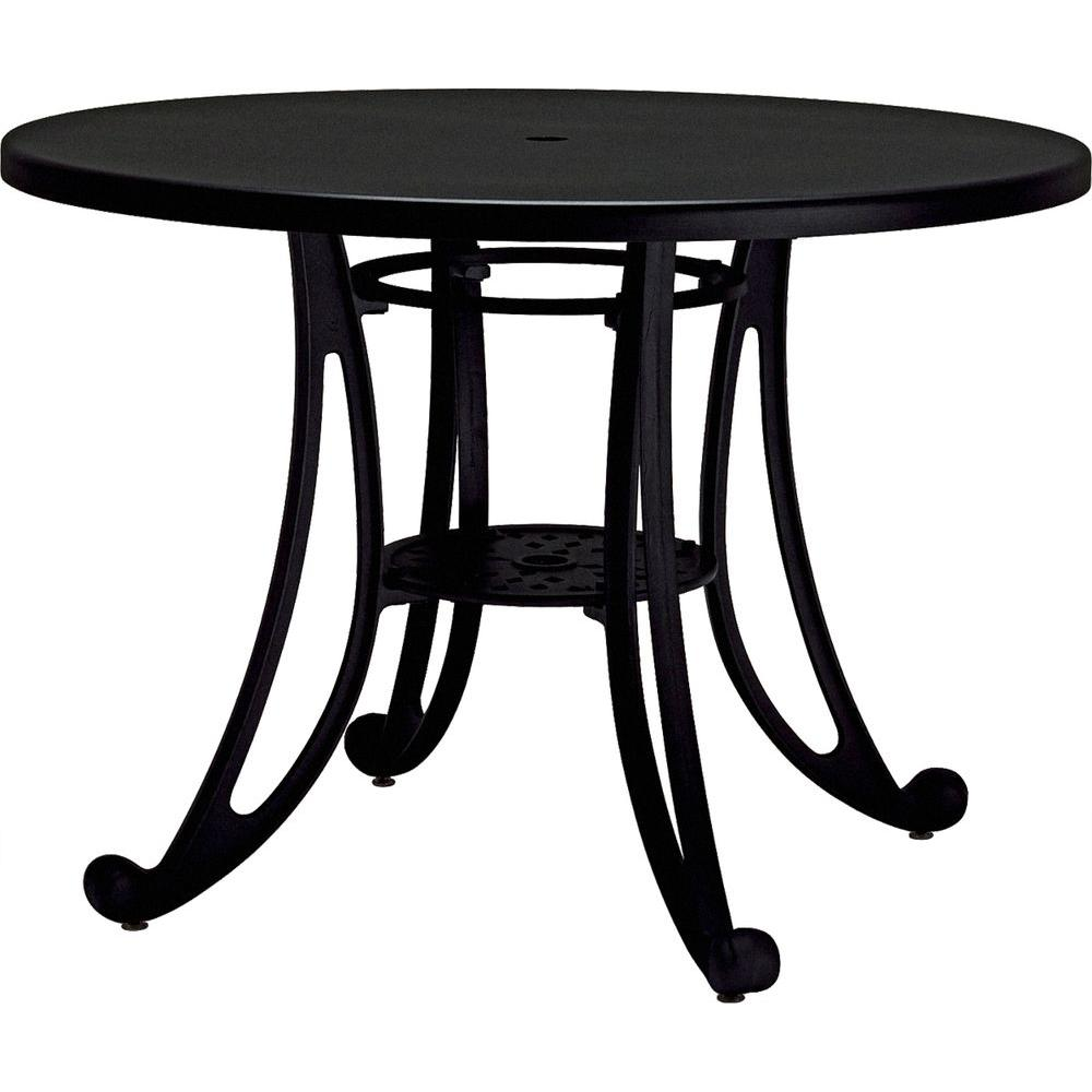 Tradewinds Terrace Textured Black 42 in. Round Commercial Patio Table