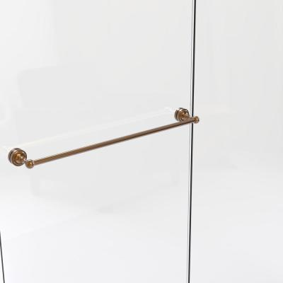 Dottingham Collection 30 in. Shower Door Towel Bar in Brushed Bronze