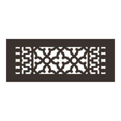 Scroll Series 12 in. x 4 in. Aluminum Grille, Oil Rubbed Bronze without Mounting Holes
