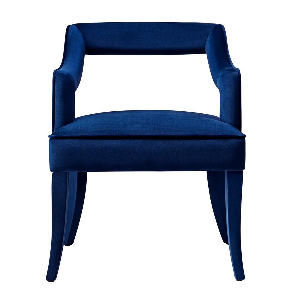 Navy Velvet Anneau Dining Chair: TOV Furniture Tiffany Navy Velvet Chair-TOV-A212
