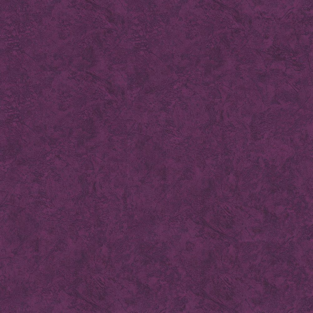 The Wallpaper Company 56 sq. ft. Purple Faux Plaster Wallpaper