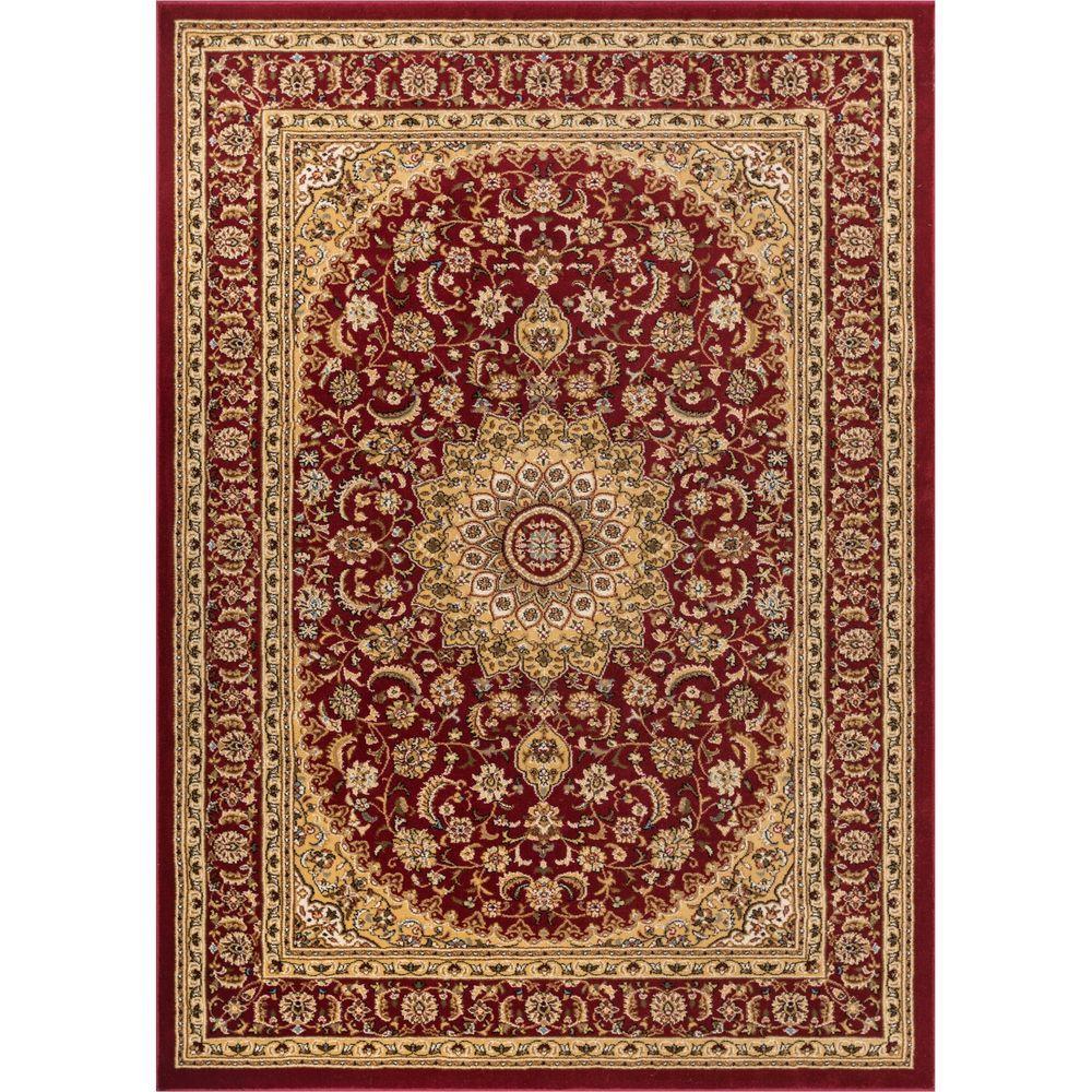 Timeless Aviva Red 4 ft. x 5 ft. Traditional Area Rug