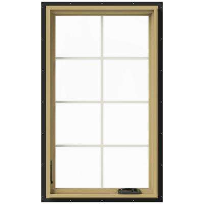 28 in. x 48 in. W-2500 Left-Hand Casement Aluminum Clad Wood Window
