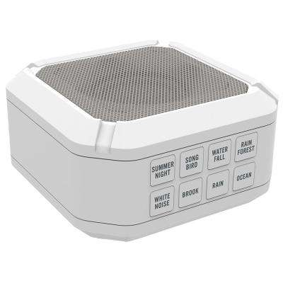 Portable Sound Machine with 8-Sounds, White
