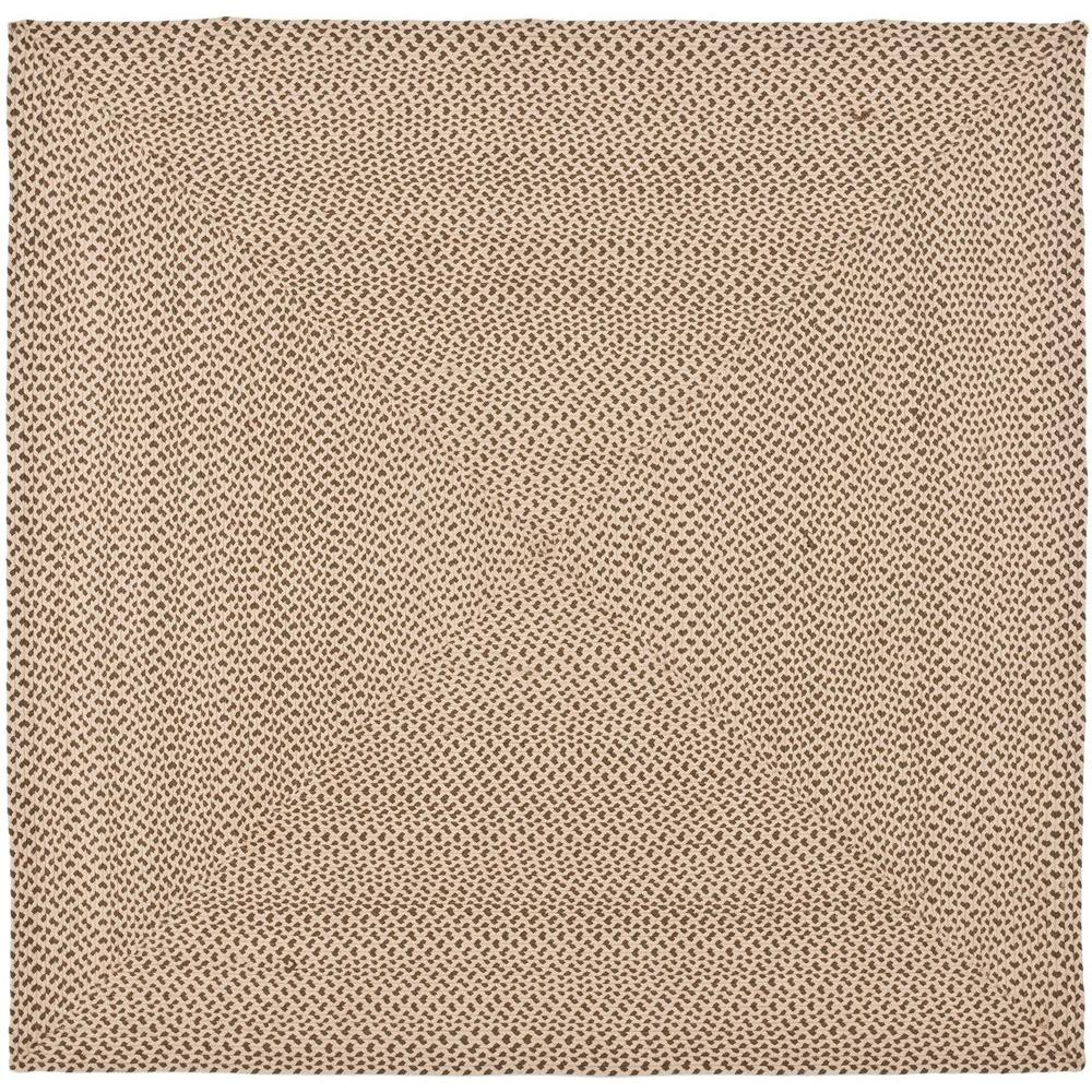 Braided Beige/Brown 6 ft. x 6 ft. Square Area Rug