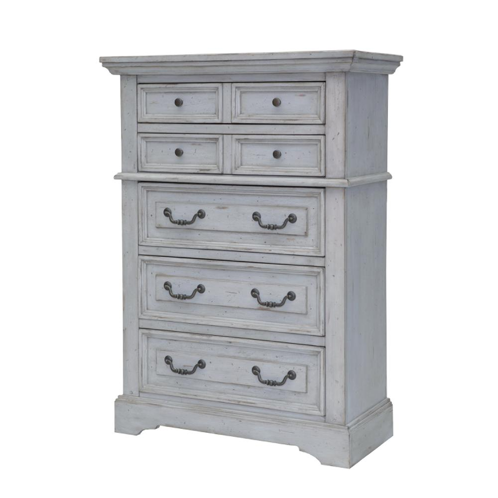 Stonebrook 5 Drawer Antique Grey Chest
