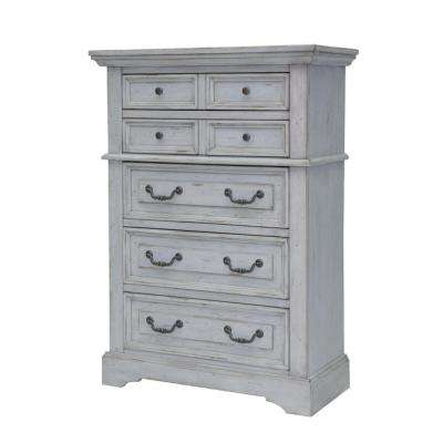 Stonebrook 5-Drawer Antique Grey Chest