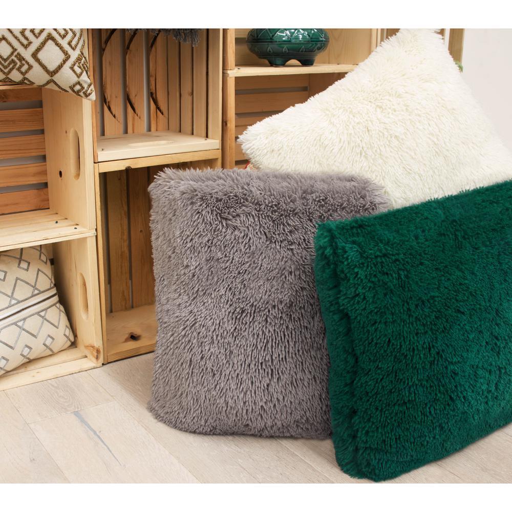 Alexus Shag Ivory Decorative Pillow Set (Set of 2)