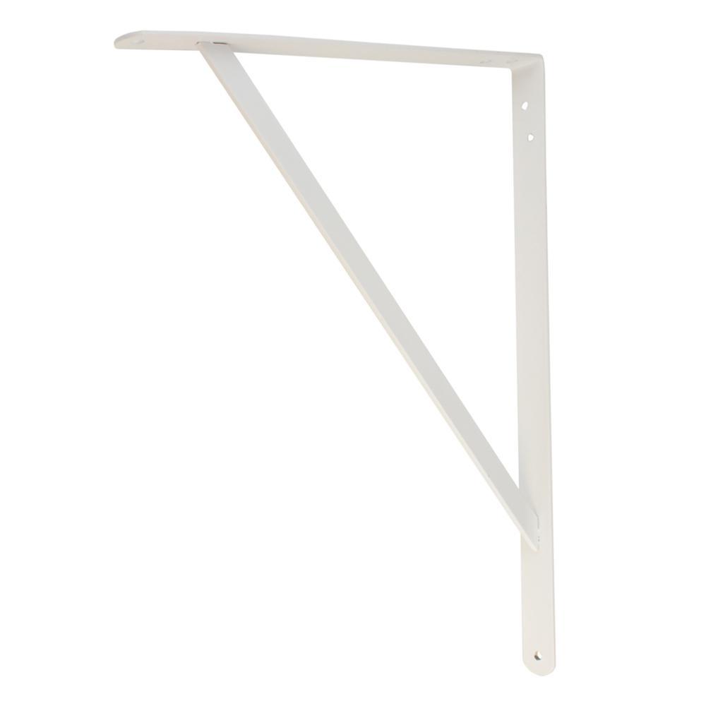 White Heavy Duty Shelf Bracket 14835 The Home Depot