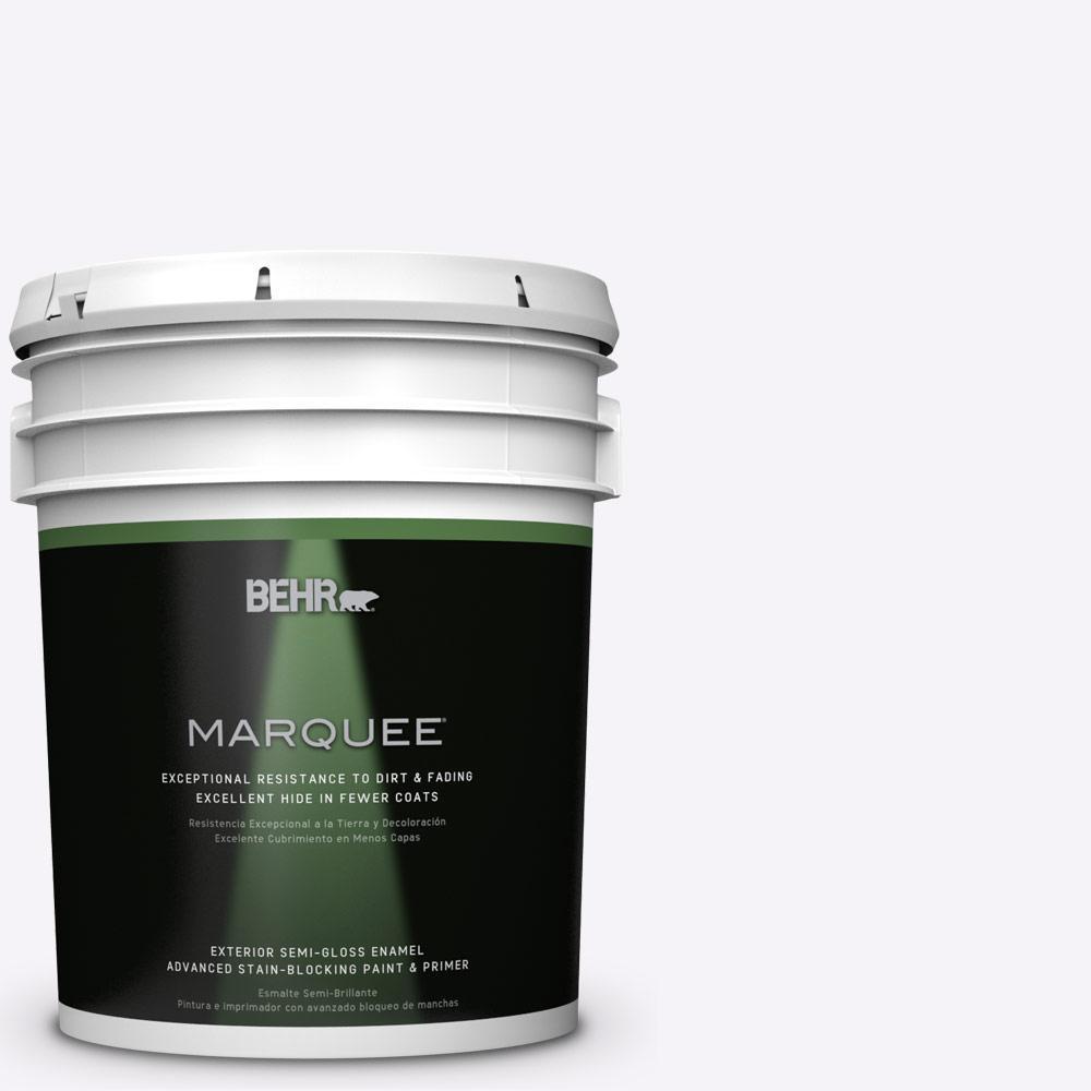 BEHR MARQUEE 5-gal. #W-D-600 Bridal Veil Semi-Gloss Enamel Exterior Paint