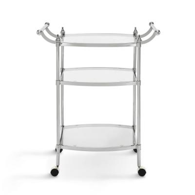 Thompson Silver and Glass Bar Cart