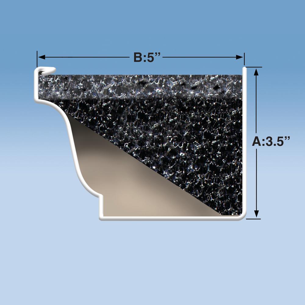 Gutterstuff Original 4 Ft Foam Filter Plastic Gutter Guard For 5 In K Style 8 Pack Gs10957 The Home Depot