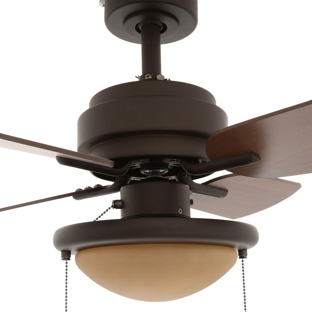 24 Indoor Compact Ceiling Fan W Light Reversible Tiny