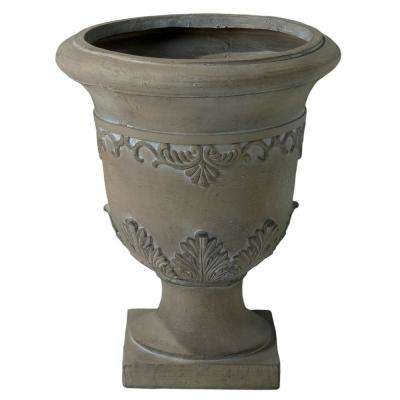 Bentlee 20 in. Antique Green Stone Urn Planter
