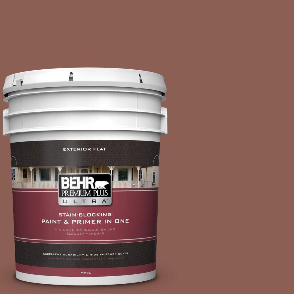 BEHR Premium Plus Ultra 5-gal. #ECC-26-1 Cedar Grove Flat Exterior Paint
