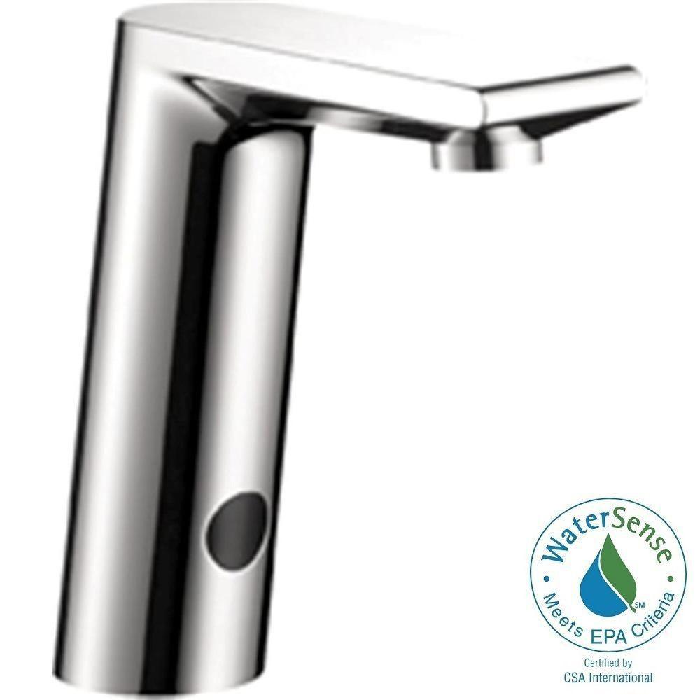 Hansgrohe Metris S Electronic Single Hole Touchless Bathroom Faucet in Chrome