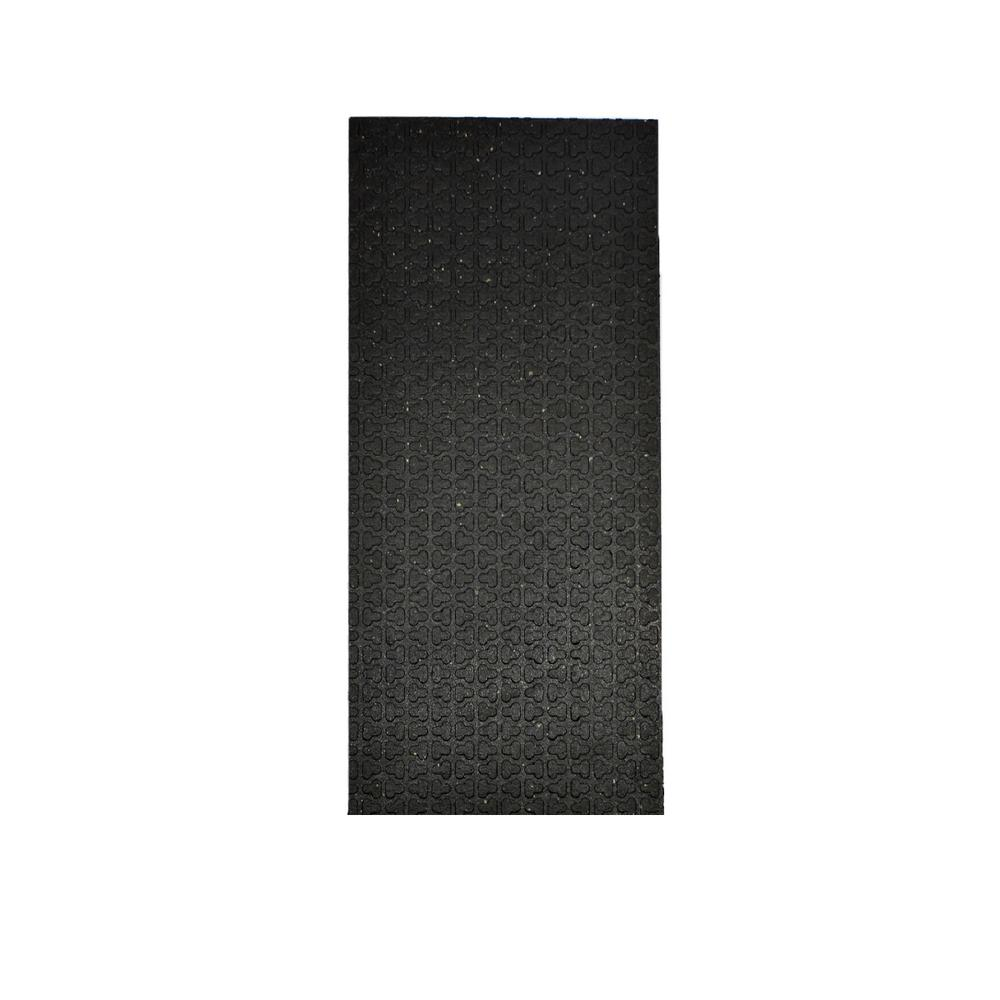 Beau Technoflex Secure Step Black 8 In. X 36 In. Recycled Rubber Stair Tread