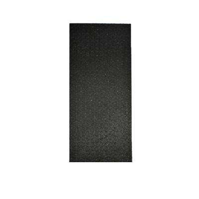 Secure Step-Black 8 in. x 36 in. Recycled Rubber Stair Tread Cover (Set of 3)