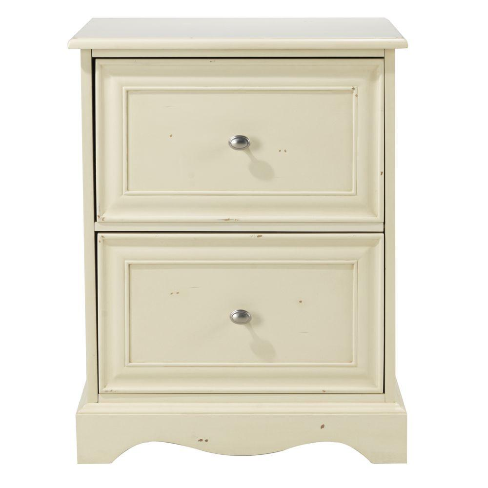 Home Decorators Collection Sheffield 2-Drawer File Cabinet in Antique White