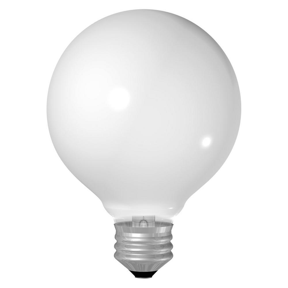 GE 40-Watt Incandescent G16.5 Globe Soft White Light Bulb (4-Pack)