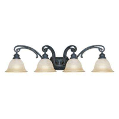 Monte Carlo 4-Light Natural Iron Wall Light
