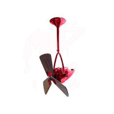 Jarold Direcional 16 in. Indoor/Outdoor Red Ceiling Fan with Wall Control