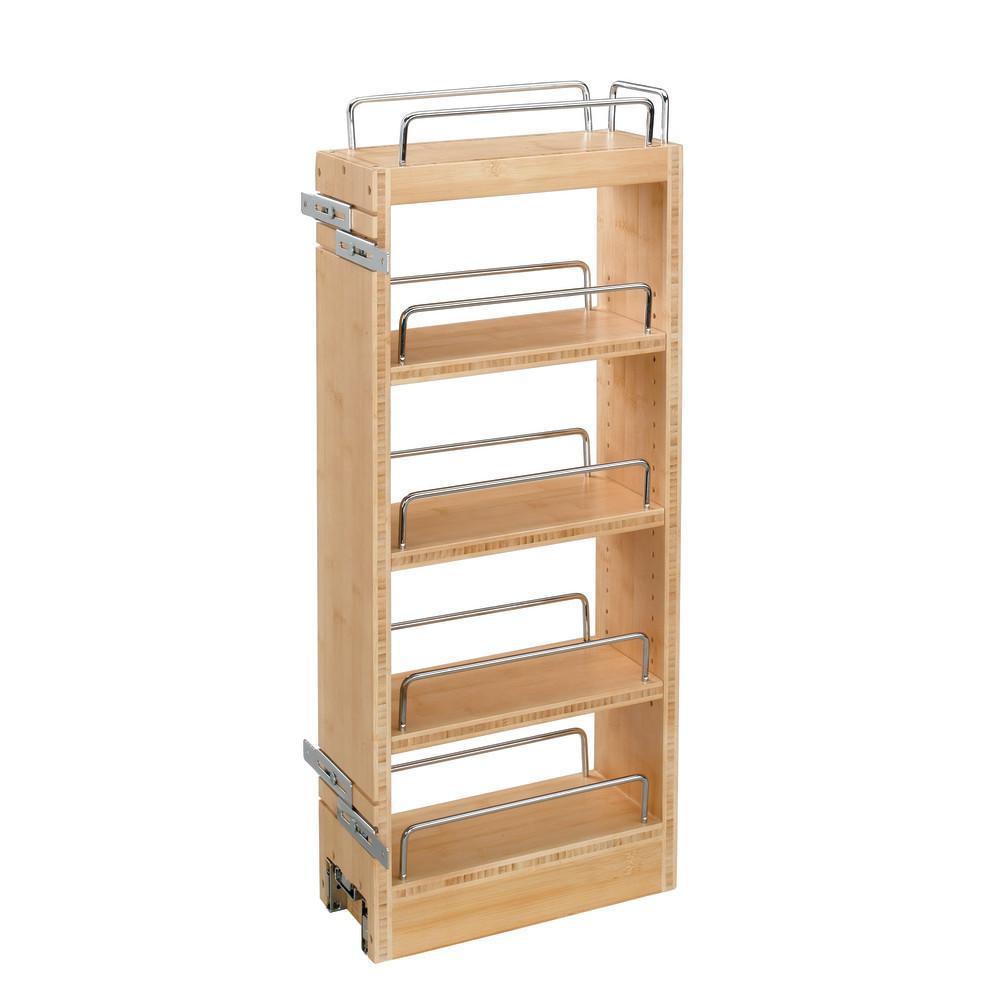 26.25 in. H x 8 in. W x 10.75 in. D Pull-Out Wood Wall Cabinet Organizer