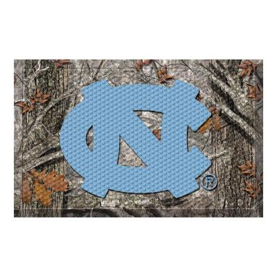 University of North Carolina - Chapel Hill Camo Heavy Duty Rubber Outdoor Scraprer Door Mat