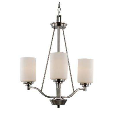 Mod Pod 3-Light Rubbed Oil Bronze Chandelier with Opal Shades