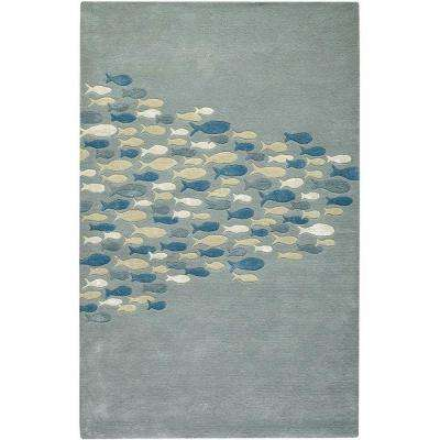 School Pastel Blue 8 ft. x 11 ft. Area Rug